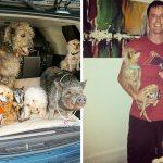 'Greig' ชายผู้อุทิศชีวิตเพื่อช่วยเหลือ 'หมาแก่' จนบ้านเต็มไปด้วยเพื่อน 4 ขา