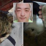 หนุ่มเพิ่งรู้ตัวว่าแพ้แมวหลังเก็บลูกแมวมาเลี้ยง แต่เขาก็ดูแลมันถึง 21 ปี จนถึงวันจากลา