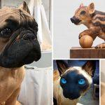 ศิลปินชาวสเปน สร้างผลงานรูปปั้นสัตว์จากไม้ ดูสมจริงและสวยงามมากจนน่าทึ่ง