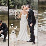หมาบูลล์ด็อกเอาแต่เล่นซน ระหว่างที่แม่ถ่ายรูปแต่งงาน รูปที่ได้เลยมีแต่ความสดใส
