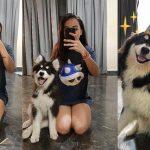 หญิงสาวถ่ายรูปคู่กับสุนัขของเธอทุกเดือน เพื่อดูว่ามันมีการเปลี่ยนแปลงยังไงบ้าง