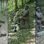 """เจ้าหมาเป็นงง ที่ผ่านมาอ้อนคนกี่คนก็เล่นด้วยหมด จนมาเจอ """"รูปปั้นคุณลุง"""" คนนี้"""