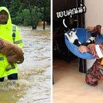 พาชมภาพชวนรู้สึกอุ่นใจ ของทีมกู้ภัยมาเลเซีย ที่เข้าช่วยสัตว์ต่างๆ จากน้ำท่วม