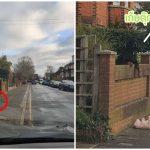 หญิงขับรถผ่านมา เจอหมาทำตุ๊กตาหล่นข้างรั้วบ้าน ดูน่าสงสารจนต้องกลับรถไปช่วย