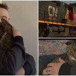 แมวเหมียวส่งเสียงโหยหวนอยู่ใต้รถไฟ หวังให้คนมาช่วยก่อนที่มันจะหนาวตาย