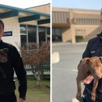 """""""ตำรวจหนุ่ม"""" ช่วยลูกหมาจากการถูกเจ้าของทำร้าย ก่อนจะลงเอยด้วยการรับเลี้ยงมัน"""
