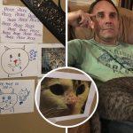 เด็กสาวอยากเลี้ยงแมว แต่พ่อไม่อนุญาติ เธอจึงติดโน๊ตขอร้องทั่วบ้านจนพ่อยอมใจอ่อน